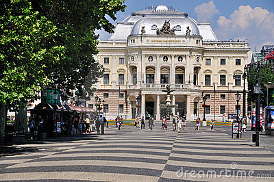 Slovak National Theater, Bratislava Editorial Stock Image