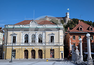 The Slovenian Philharmonic on Congress Square.