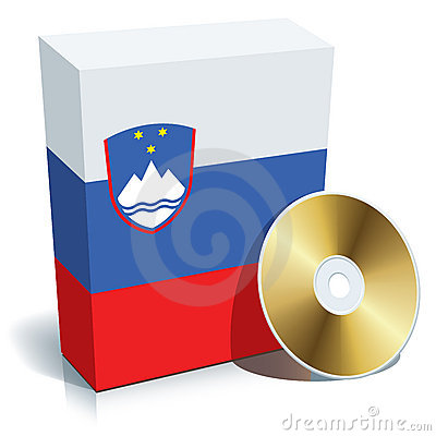 Slovenian Software Box And CD Stock Photography - Image: 7945602