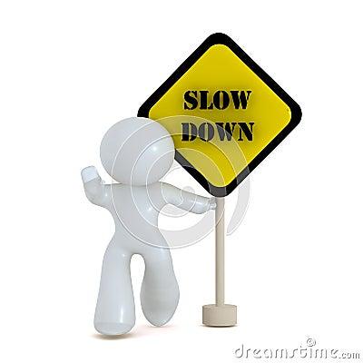 Slow down zone