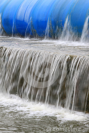 Slow flow of water
