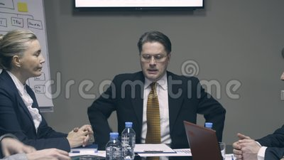 Slow motion boss comes and greet colleagues in meeting room stock boss comes and greet colleagues in meeting room stock footage video of modern global 90786646 m4hsunfo