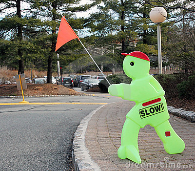 Slow Traffic Sign.