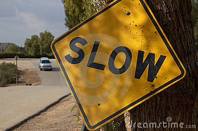 Slow Traffic Sign
