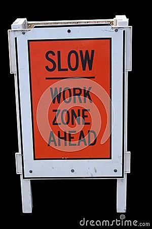 Free Slow Work Zone Stock Photo - 2241080