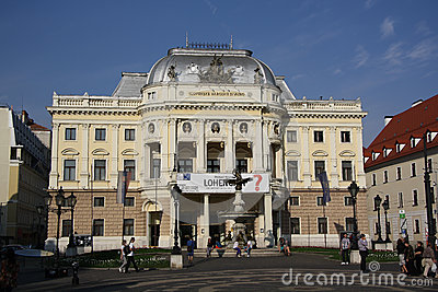 Slowaaks Nationaal Theater Redactionele Stock Foto