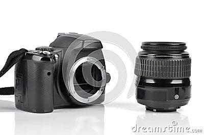 Slr body and lens