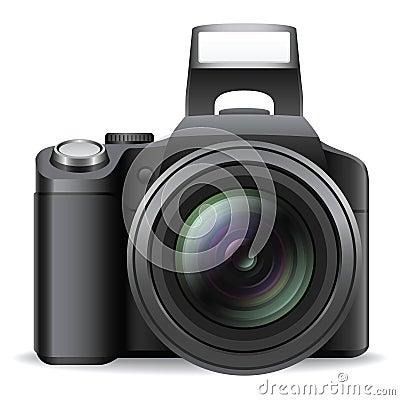 Free SLR Camera Royalty Free Stock Photography - 15637847