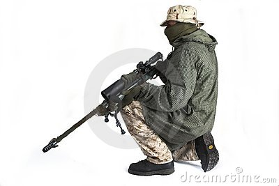 Sluipschutter in mantel anti-IRL