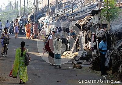 Slum in Bangalore India Editorial Image