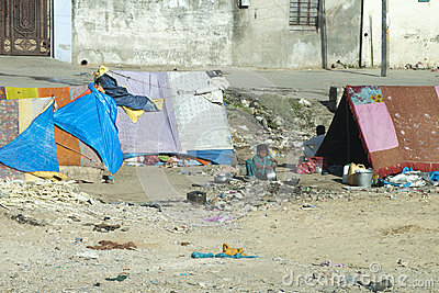 Slum Camp, Poor and Poverty in India Editorial Photo