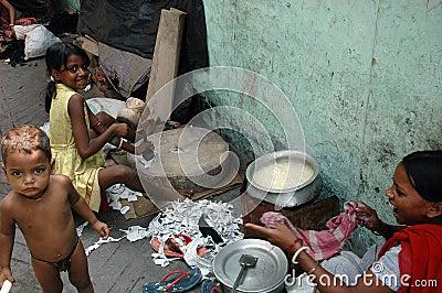 Slum dwellers of Kolkata-India Editorial Photography