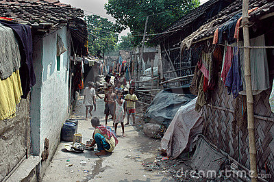 Slum dwellers of Kolkata-India Editorial Stock Image