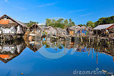 Slum Houses on Water
