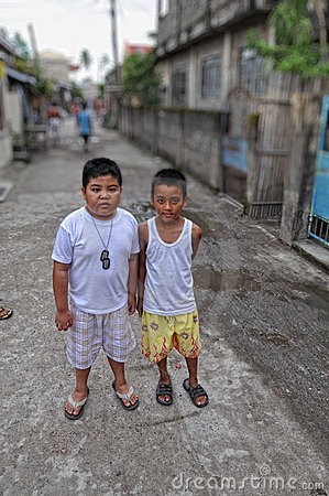 Slum Kids Editorial Photo
