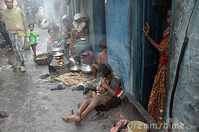 Slum life in India Editorial Stock Image