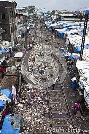 Slum in Mumbai Editorial Photo