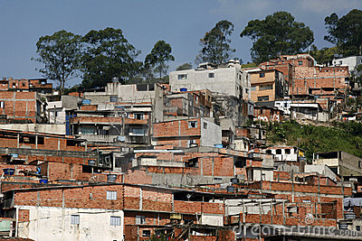 slum, poverty in neighborhood of Sao Paulo