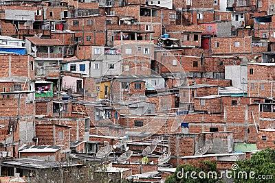 Slum, poverty in neighborhood of Sao Paulo