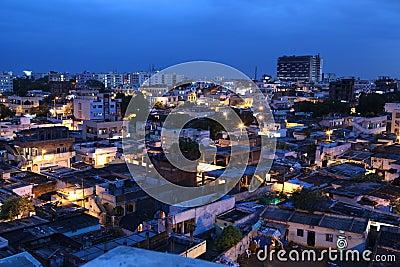 Slums of Hyderabad,India Editorial Stock Photo