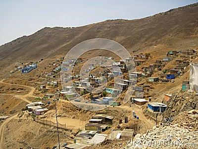 Slums, South America, Lima