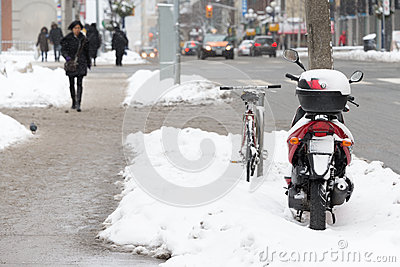 Slushy sideway Editorial Stock Photo