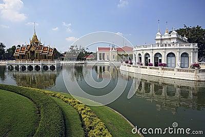 Smäll Pa-I den kungliga slotten - Ayutthaya, Thailand