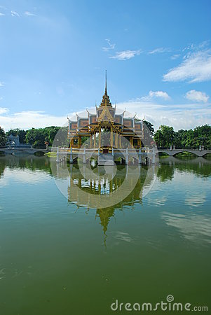 SmällPa-Inslott i det Ayutthaya landskapet, Thailand