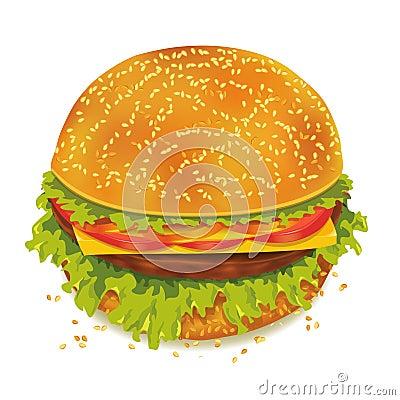 Smaklig hamburgare