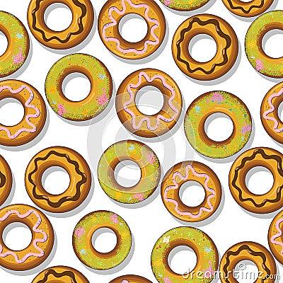 Smakliga donuts mönstrar