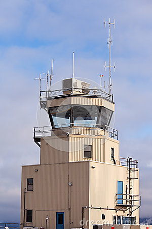 Small air traffic control tower big glass windows