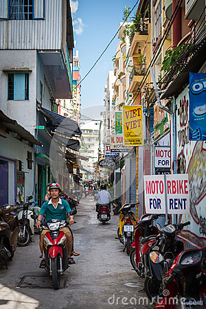 Small Alley In Ho Chi Minh City, Vietnam