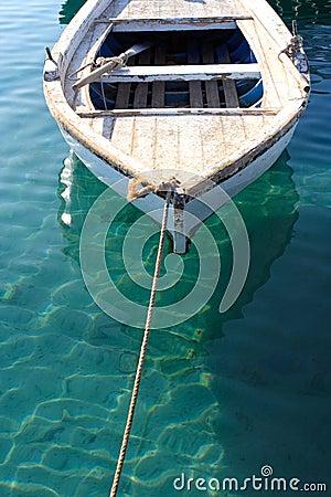 Free Small Anchored Fishing Boat Royalty Free Stock Photo - 11867305
