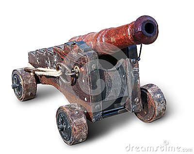 Small ancient cannon