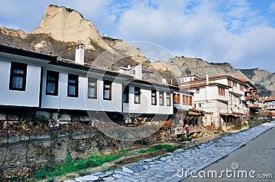 Small ancient old village Melnik