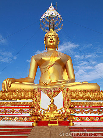 Free Small And Big Golden Buddha Royalty Free Stock Photo - 14591445