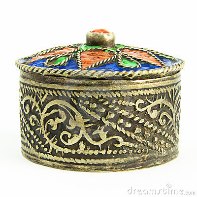 Free Small Antique Tunisian Jewel Casket Royalty Free Stock Images - 23477249