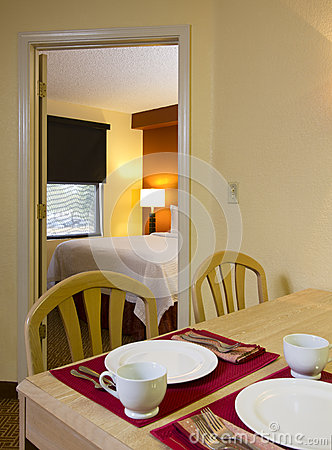 Small Apartment Kitchen Dining and Bedroom