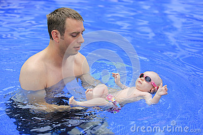 Small baby girl is swimming in the pool royalty free stock photos image 32876108 3 month old baby swimming pool
