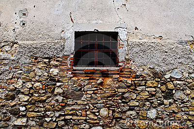 Small barred window