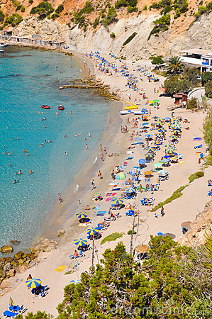 Small beach at Ibiza, Spain
