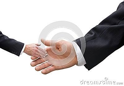 Small Big Business Handshake Size