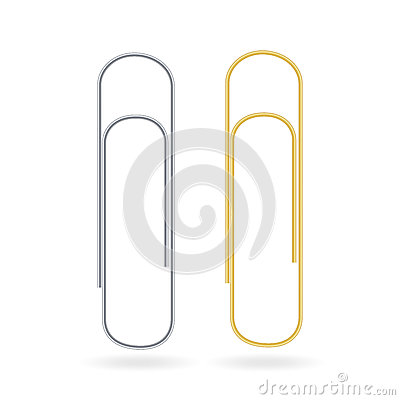 Free Small Binder Clips Vector Isolated On White. Realistic Paper Clip Set Royalty Free Stock Photos - 89822928