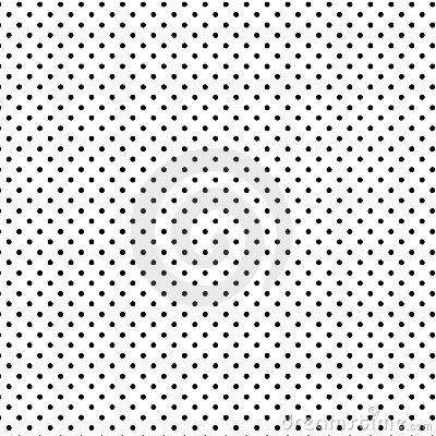 Small Black Polka Dots, White Background