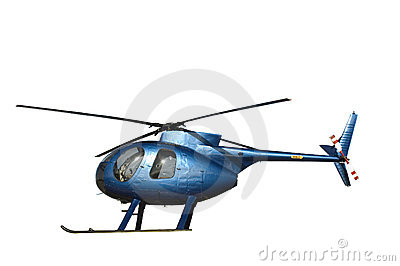 Small Blue Helicopter Royalty Free Stock Image - Image: 8386996