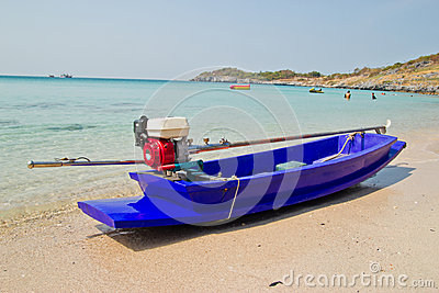 Small boat on beach