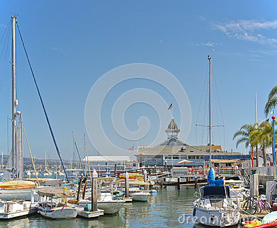 Small Boat Harbor, Newport Beach, California