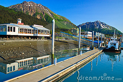 Small Boat Harbor, Seward Alaska Editorial Image