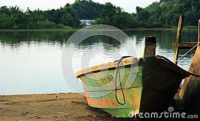Small Boat Lake Shore