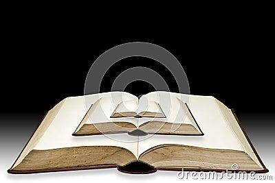 Small book put on bigbook